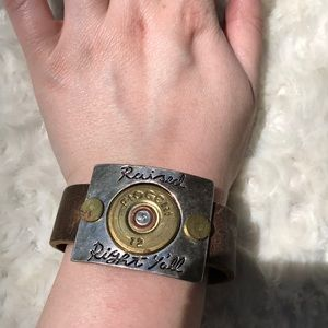 Jewelry - Raised Right Y'all leather bracelet
